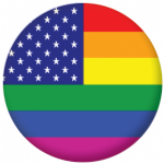 USA Gay Pride Flag 25mm Flat Back